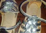 Sandálias zippy menina prata tam 24