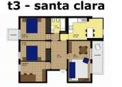 Apartamento t3 renovado - santa clara