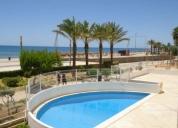 Excelente t2 férias c/ piscina vista mar-quarteira