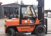 Excelente empilhador diesel 5000 kgs toyota