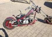 Excelente mota mini chopper viuva negra