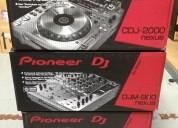 Pioneer 2 cdj-2000 nexus, 1 djm-900 nexus, hdj-2000