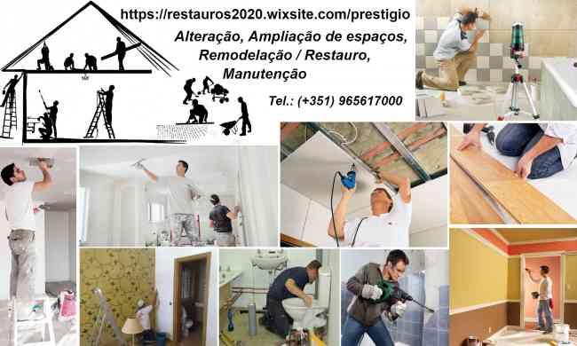 Alteração, Ampliação de espaços, Remodelação / Restauro, Manutenção