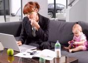 Trabalho em casa com benefícios