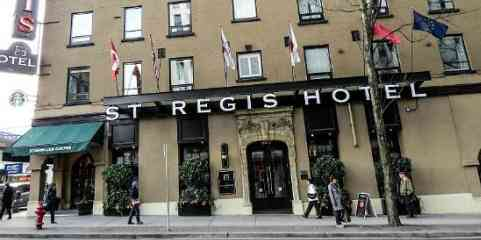 Viajar e trabalhar no hotel St Regis no Canadá