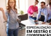 Especialização em gestão e coordenação da formação
