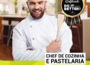 Curso chef de cozinha e pastelaria