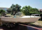barco com atrelado e motor venda separada en loulé