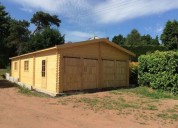 Garagem de madeira pre fabricada de 2 lugares en almeirim