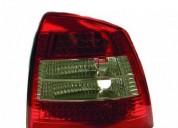 Farolins traseiros opel astra vermelho branco carros