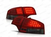 Farolins traseiros led audi a4 b7 vermelho escurecido carros