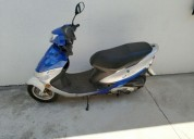 Scooter peugeot gasolina cor azul