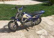 mota de cross gasolina cor azul