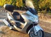 Maxi scooter kymco xciting 500 gasolina cor cinzento