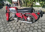 motorizada mota moto efs super gt motor sachs 5 v impecavel restaurada gasolina cor vermelho