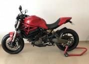 Ducati monster 821 red gasolina cor vermelho