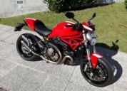 Ducati monster 821 stripe varios extras gasolina cor vermelho