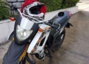 Keeway tx 50 capacete punhos originais gasolina cor branco
