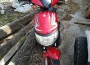 Scooter 50 gasolina cor vermelho