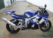 Yamaha r6 2002 gasolina cor azul