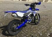 Yamaha wr 250 f matriculada gasolina cor azul