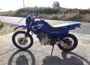 Yamaha xt 600 de 01 muito estimada gasolina cor azul