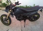 I moto tiger 125 supermotard gasolina cor preto