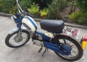 Casal mini macal 50 cc restaurada gasolina cor azul