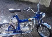 Mini tuxa motor casal 2 velocidades de mao gasolina cor azul