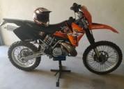 Ktm 250 exc 2t matriculada gasolina cor laranja