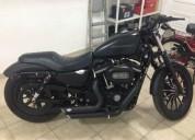 Harley davidson 883 iron c muitos extras nova gasolina cor preto