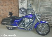 Harley davidson road king cvo screamin eagle gasolina cor azul