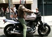 Harley davidson c kit cafe racer como nova gasolina cor cinzento