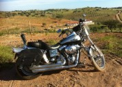Harley davidson dyna wide glide gasolina cor cinzento