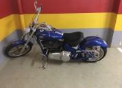 Harley davidson fx fxcwc rocker custom gasolina cor azul