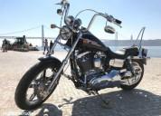 Harley davidson dyna super glide gasolina cor preto