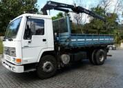 Camiao volvo fl 7 com grua km nacional diesel cor branco caixa manual