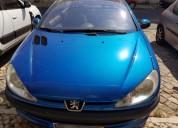 Carro peugeot gasolina cor azul caixa manual