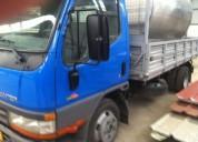 Canter tri basculante de diesel cor azul caixa manual