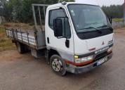 Carrinha mitsubishi canter mil km ligeira diesel cor branco caixa manual