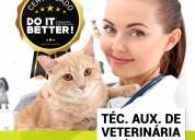 Curso téc. auxiliar veterinária e estét. animal