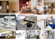 Montagem, instalações, manutenção