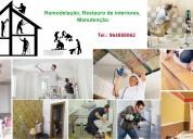 Remodelação, restauro de interiores, manutenção