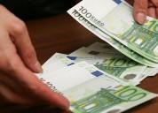 Oferta de apoio financeiro de 1.000€ à 600.000€