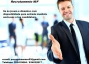 Recrutamento -trabalho m-f