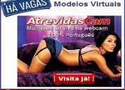 Admitimos coloboradoras para site webcam