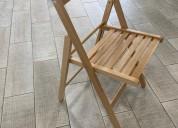 Cadeira dobrável madeira