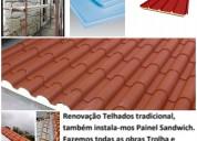 Remodelações pintura trolha cerâmica telhados
