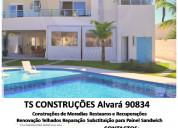 Construção moradias remodelações telhados painel
