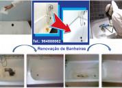 Renovação de banheiras.
